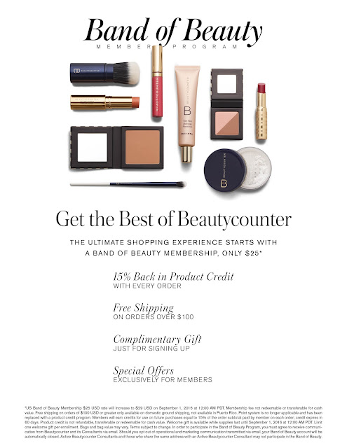 Beautycounter Band of  Beauty Membership
