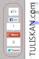 Membuat Share Button Melayang/Popup di Sisi Blog