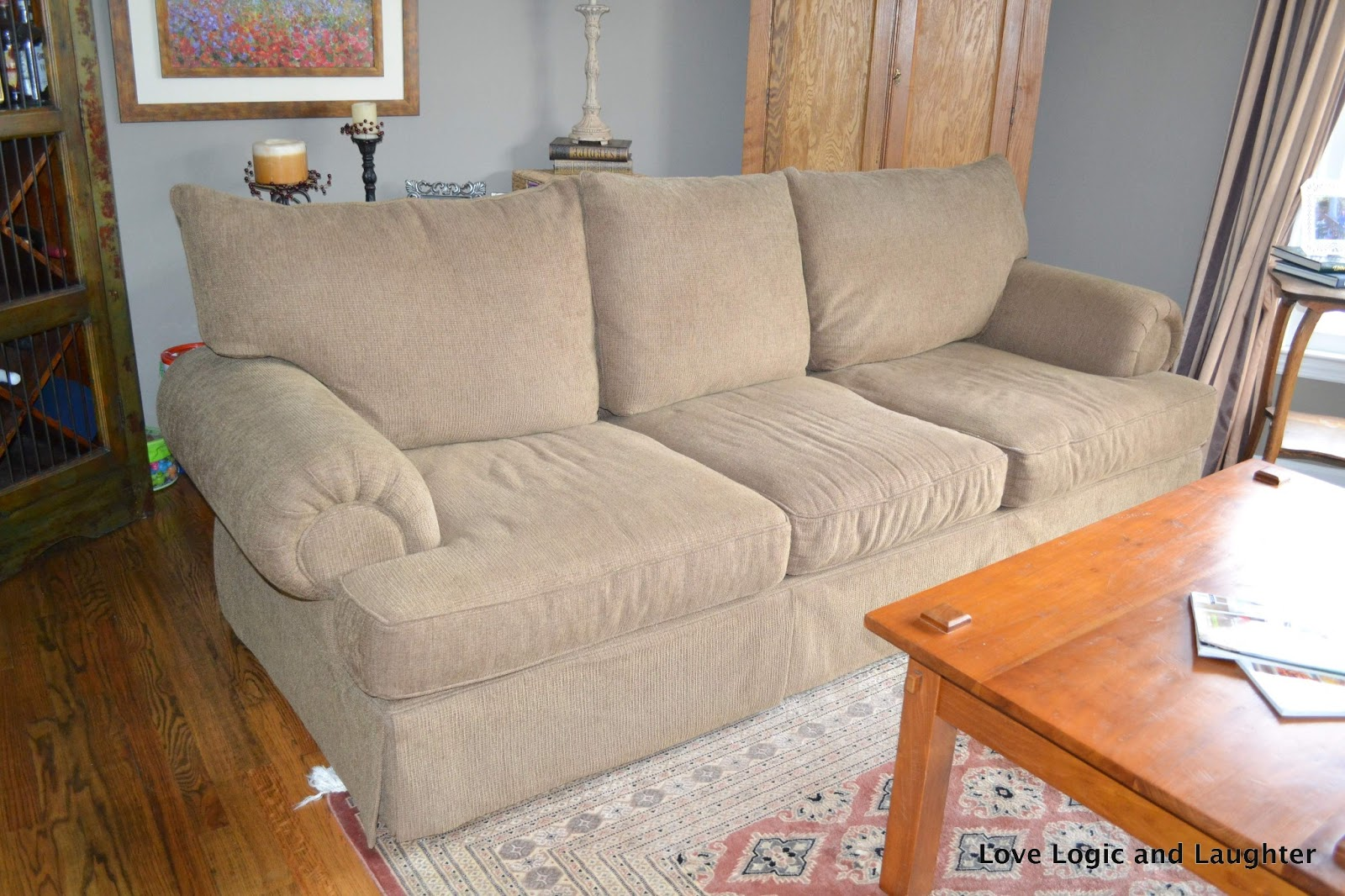 Extrem Big Sofa Couch Makeover Logic And Laughter