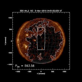Viento solar se dirige a la tierra , enorme hoyo coronal.