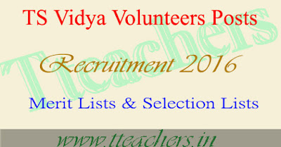 Deo Mahabubnagar Vidya Volunteers VVs Selection Lists Merit List 2016-17