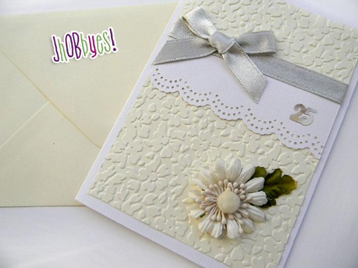 Card per un 25 anniversario di matrimonio jhobbyes for Anniversario matrimonio 25