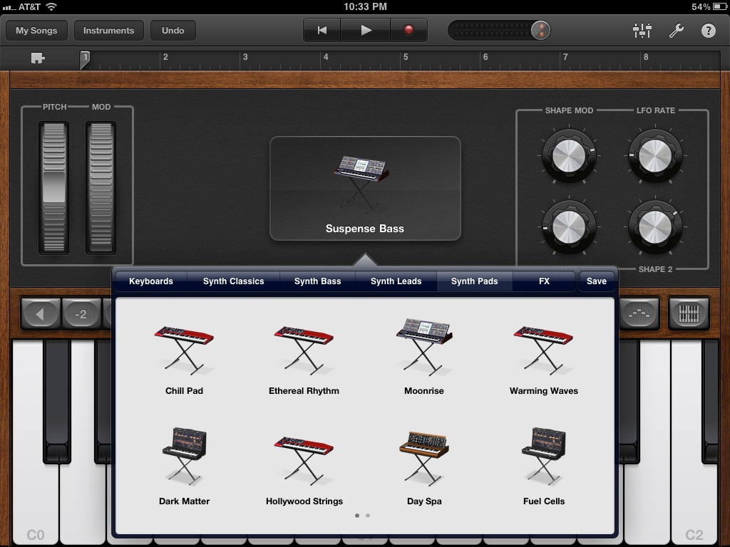 matrixsynth synths in garageband for ipad. Black Bedroom Furniture Sets. Home Design Ideas
