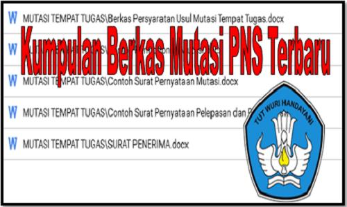 Download Kumpulan Berkas Mutasi Guru PNS Terbaru 2019