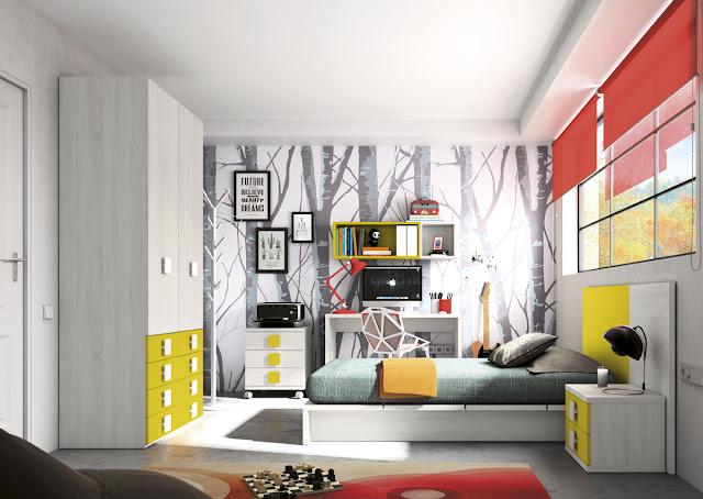 dormitorios con camas tatami cuerpo y medio