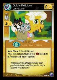 My Little Pony Goldie Delicious, Cat Hoarder Canterlot Nights CCG Card