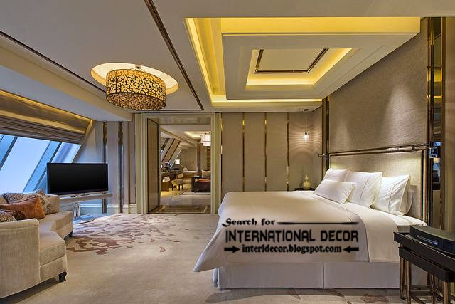 Contemporary pop false ceiling designs for bedroom 2017 Modern interior colours 2015