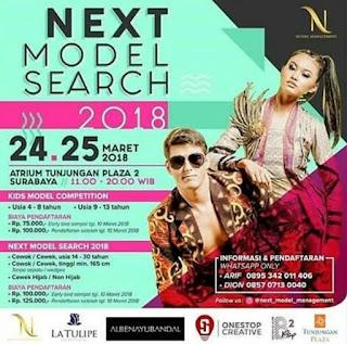 info open casting audisi next model search 2018 di surabaya