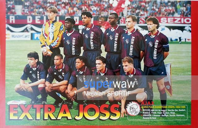 Poster Tim Ajax Amsterdam 1994/1995