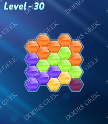 Block! Hexa Puzzle [5 Mania] Level 30 Solution, Cheats, Walkthrough for android, iphone, ipad, ipod