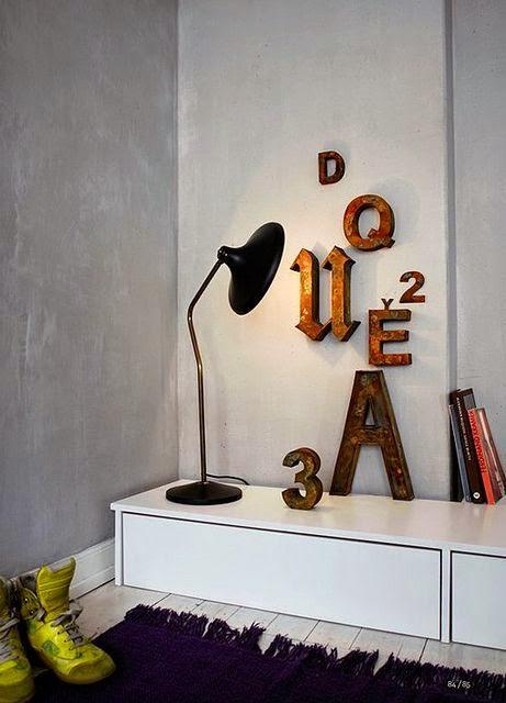 Letras, una tendencia para personalizar las paredes