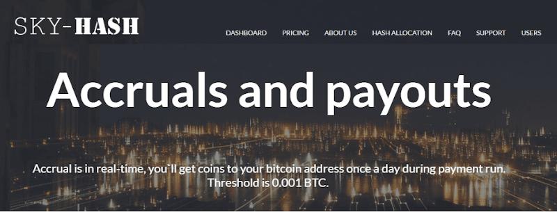 [SCAM] Hướng dẫn chơi Sky-Hash site đào Bitcoin lãi ròng 25% mỗi tháng