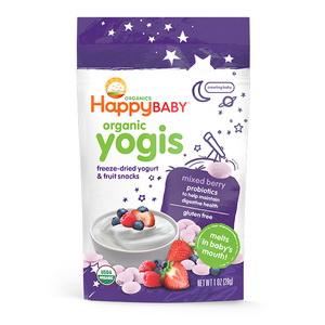 Bánh ăn dặm cho bé sữa chua sấy khô hữu cơ Happy baby organic yogis của Mỹ