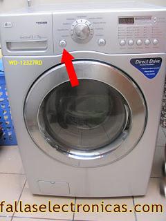 error dhe lavadora secadora lg tromm modelo wd 14312rd