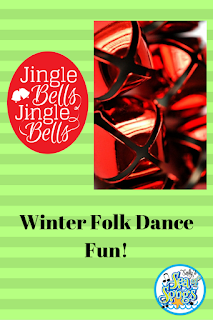 This is a blog post by Sally's Sea of Songs on using Jingle Bells as a winter folk dance.