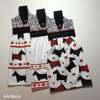 Scottie Dog Hanging Kitchen Towels