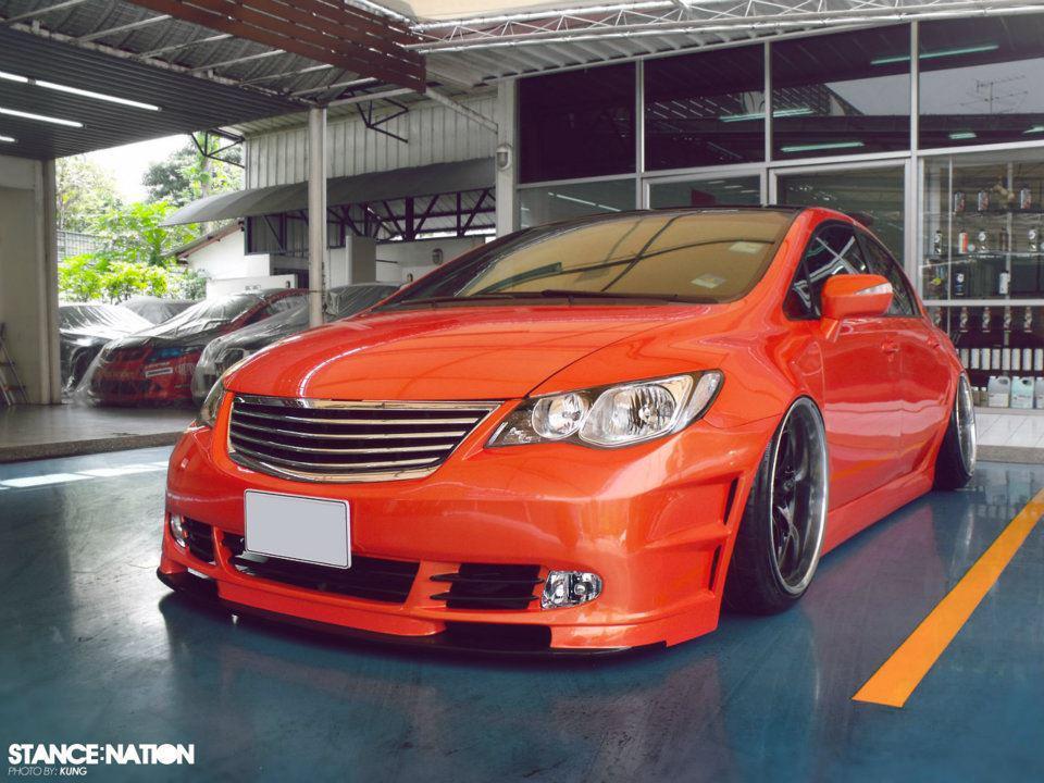 Modified Cars Orange Modified Honda Civic Reborn