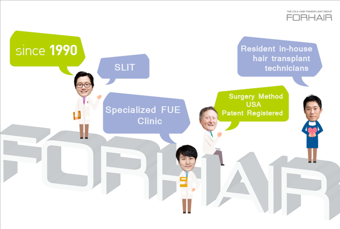 forhair korea, fue hair transplant, fue korea, hair loss korea, hair transplant korea