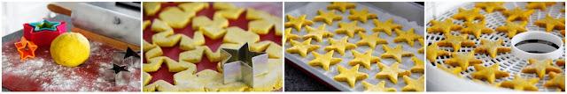 Step-by-step making homemade turmeric dog treats shaped like stars