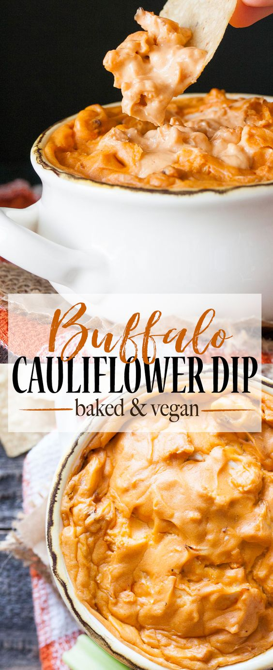 BAKED PROTEIN PACKED VEGAN BUFFALO CAULIFLOWER DIP
