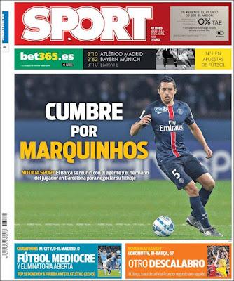 Portada Sport: Cumbre Marquinhos