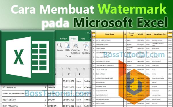 Cara Membuat Watermark pada Microsoft Excel