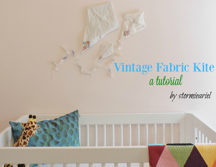 DIY Vintage Fabric Kites