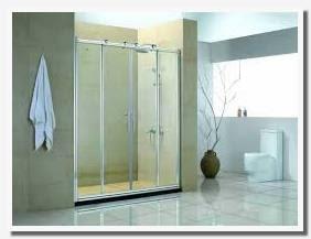 how to clean bathroom glass door