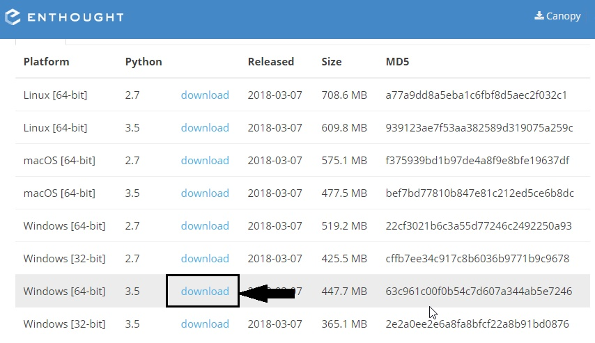 canopy python tutorial for windows