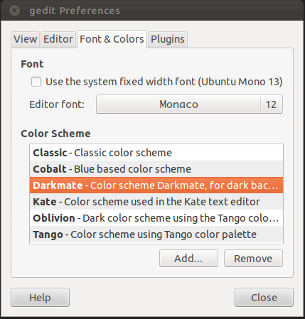 InLoveWithNature: Making Gedit look like Textmate for Ubuntu