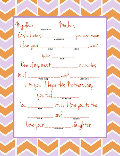 spencer and molly mothers day mad lib and envelopes. Black Bedroom Furniture Sets. Home Design Ideas