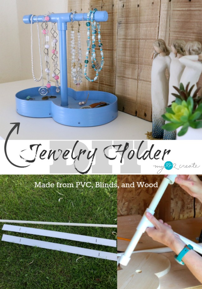 Learn how to make a jewelry holder with this easy to follow picture tutorial from MyLove2Create