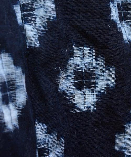 野良着 FUNS 藍染 絣 ジャパンヴィンテージ 30年代 綿入れ 丹前 半纏 Noragi Jacket Japanese Vintage Aizome Kasuri Hanten 30s