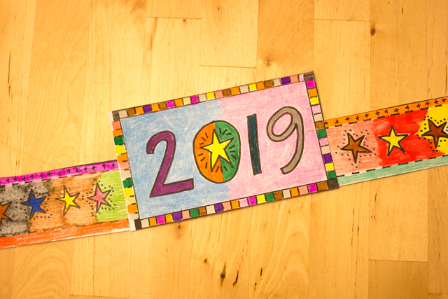 Printable 2019 New Years Crown- Kids craft