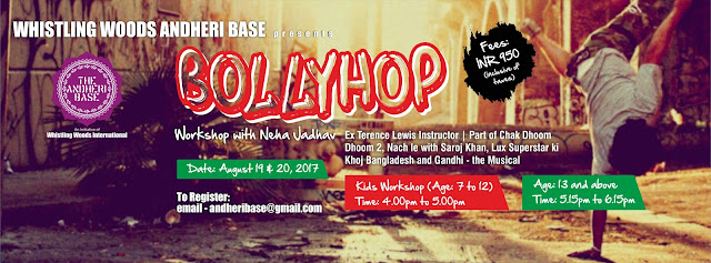 Whistling Woods Andheri Base presents Bollyhop workshop with Neha Jadhav