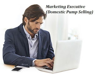 Marketing Executive (Domestic Pump Selling)