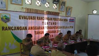Bupati Kotabaru Hadiri Evaluasi Rancangan Peraturan Desa