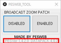 PES 2019 Broadcast Camera ZOOM Disabler Ver. 1.4.0.2 / DATAPACK 4.0.2