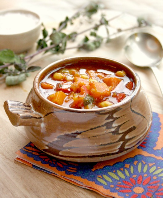 Sweet Potato Chickpea Soup from Moosewood Restaurant