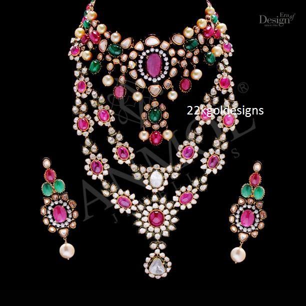 Anmol Coloured Gemstone Vivaha Jewellery