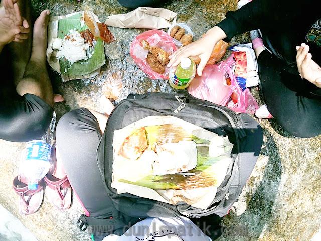Bekalan makanan yang dibawa ke Sungai Chiling