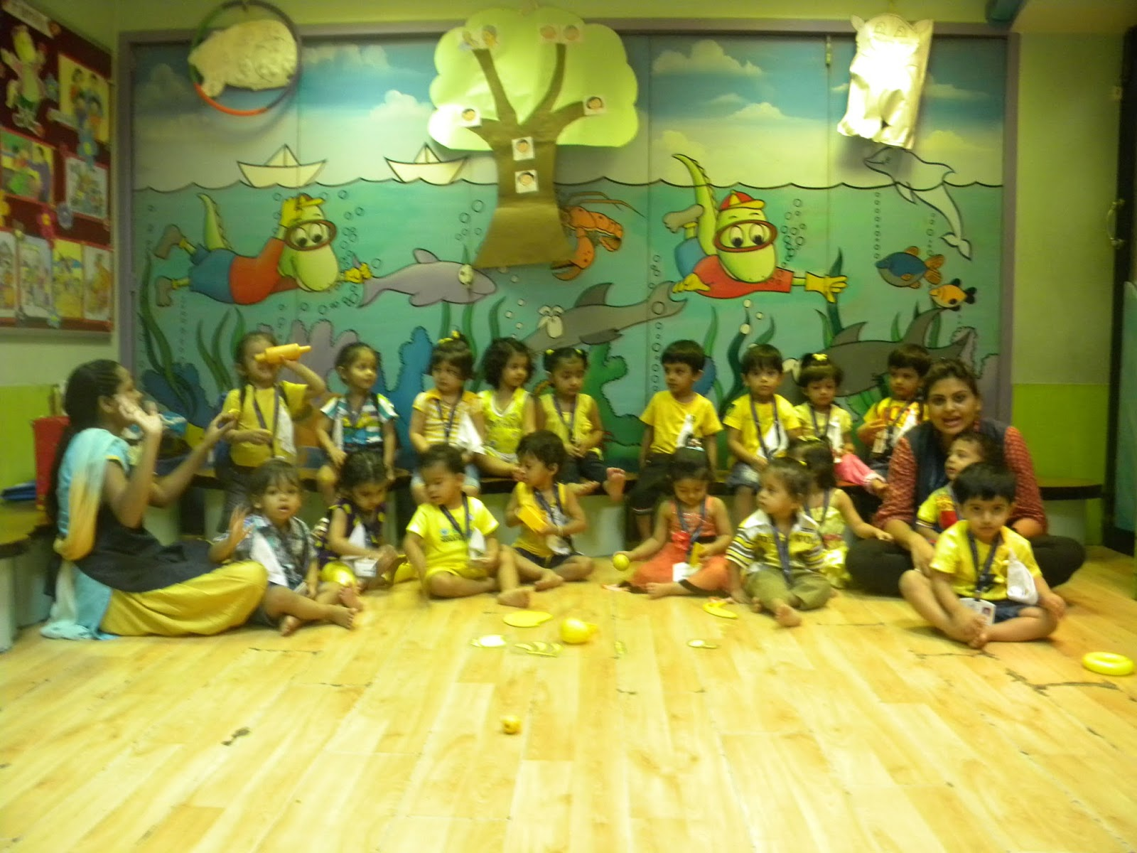 On The Top Of The World Yellow Day Celebration By Playgroup Wis Malad 13 14