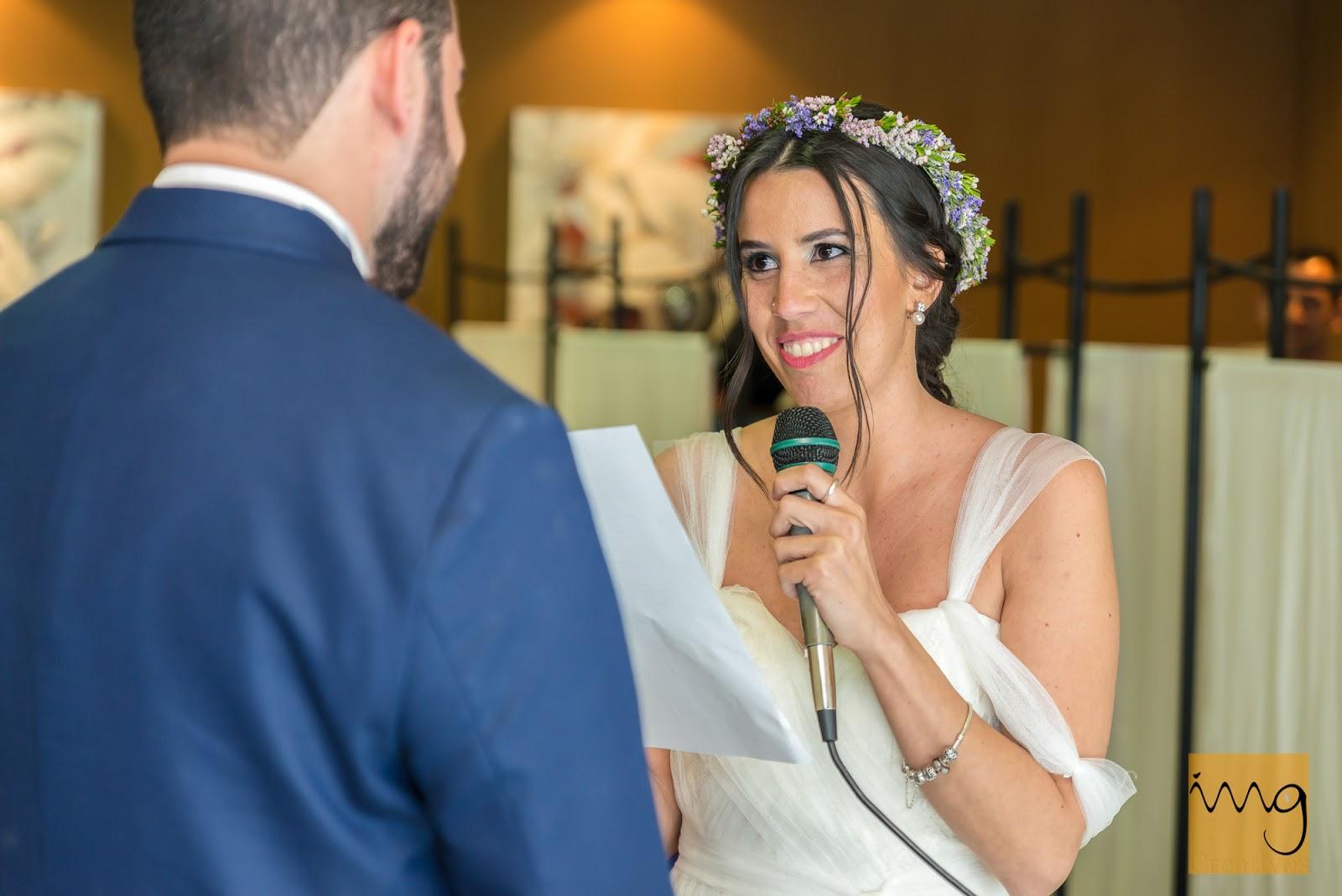 Fotografía simpática en la ceremonia de boda