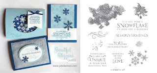 Stampin' Up! Beautiful Blizzard Card Kit for November 2018 Stamp of the Month Club by Julie Davison www.juliedavison.com/clubs