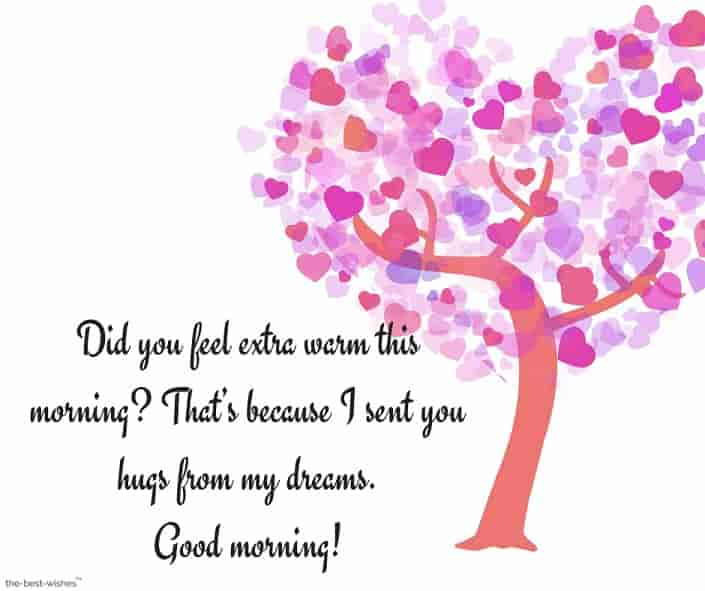 good morning messages to my lover girl with heart tree