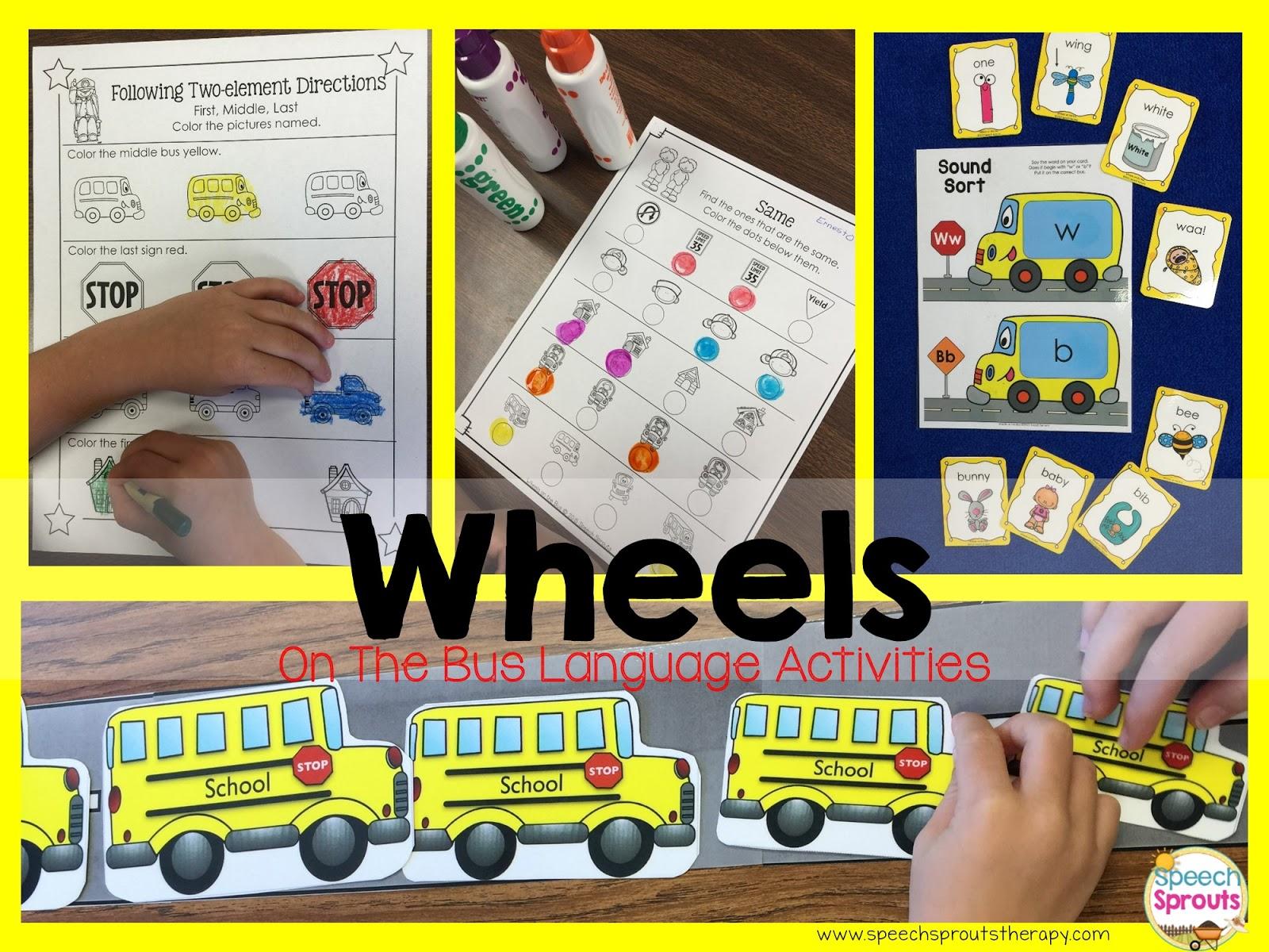 Speech Sprouts Wheels On The Bus Transportation Week