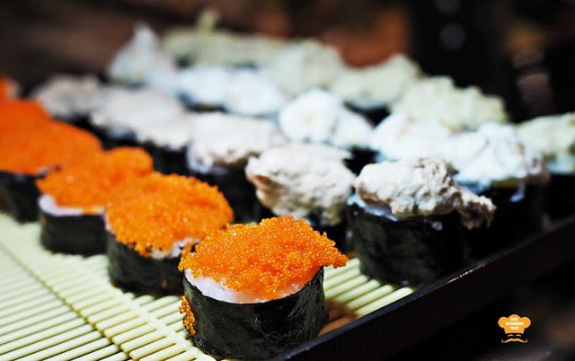 Sushi and Sashimi offering Juadah Kampung Buffet Dinner Kontiki Restaurant The Federal Hotels Kuala Lumpur
