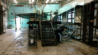 Commercial Washing Machine Soil Sorting System - During removal