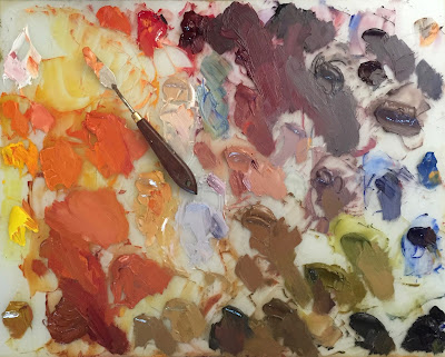 sarah sedwick oil painting palette