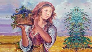 Un'avvenente ragazza di campagna